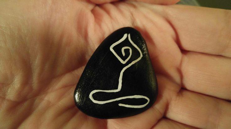 Painted stone - yoga