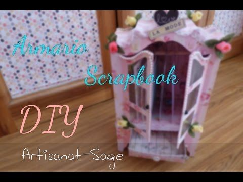 ▶ Armario//closet scrapbook [Album de fotos] DIY-How to VINTAGE - YouTube