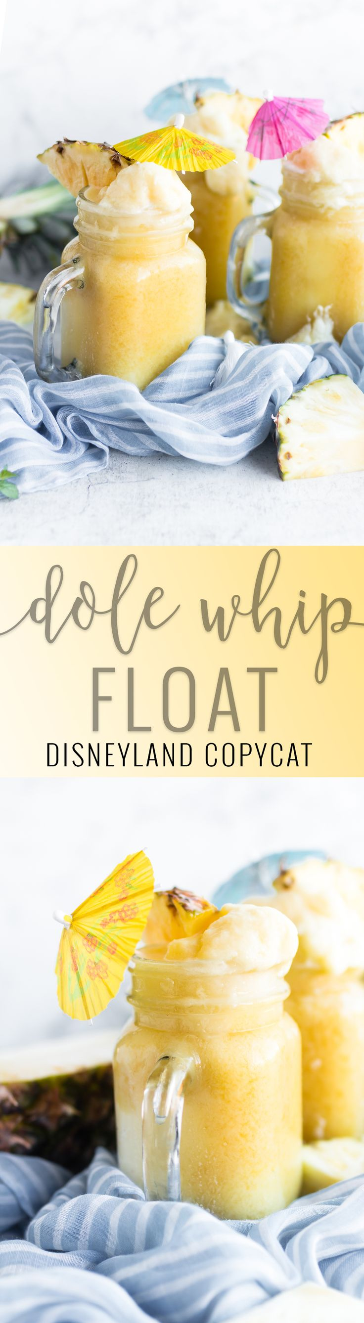 Disneyland Copycat - Dole Whip Float   how to make a homemade dole whip float   copycat Disney recipes   homemade Disney recipes   dole whip float recipes   Disney recipes at home   how to recreate a Disney dole whip float    Oh So Delicioso