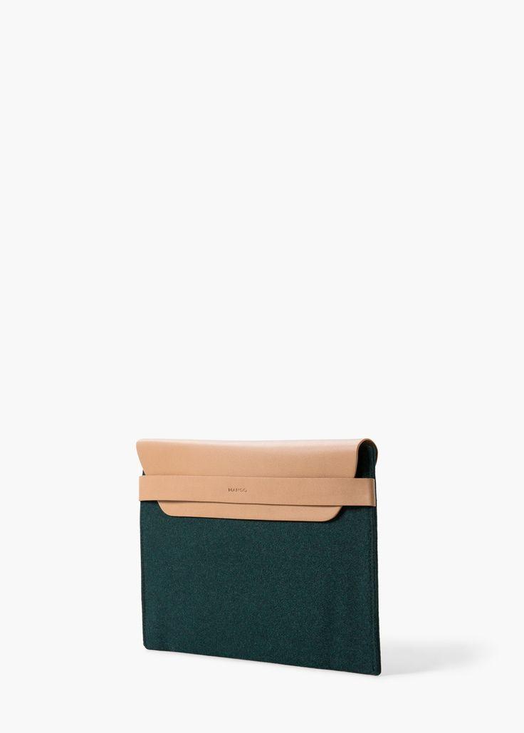 Bicolor cosmetic bag