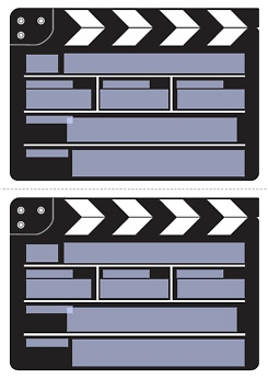 einladung filmklappe druckvorlage geburtstag pinterest. Black Bedroom Furniture Sets. Home Design Ideas