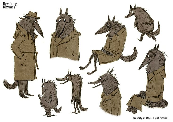 Magic Light Pictures produced an animated adaption of Roald Dahl's Revolting Rhymes, directed by Jakob Schuh, Jan Lachauer and Bin Han To. I had the pleasure to design some of the characters.