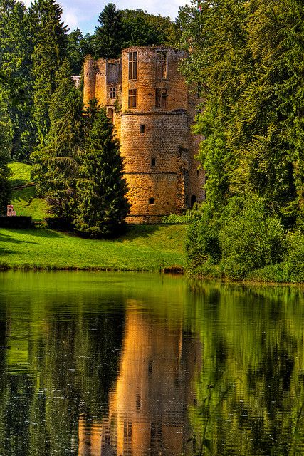 Beaufort Castle, Luxembourg    this would be my dream home.......secluded, historic, beautiful!