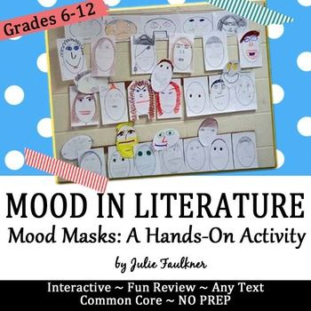 Mood is the feelings evoked in a reader from a text through the authors use of word choice, imagery, figurative language, etc.  For this activity, students explore different moods by making mood masks. The mood words are included (over 20), as well as the blank masks, and suggestions for use.