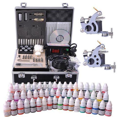 2-Gun Pro Complete Tattoo Machine Kit w/ Case 54Ink – The Salon Outlet