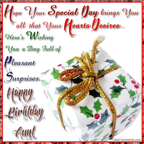 Happy Birthday Aunt Quotes | Birthday Wishes for Aunt Pictures, Comments for Orkut, Myspace - Page ...