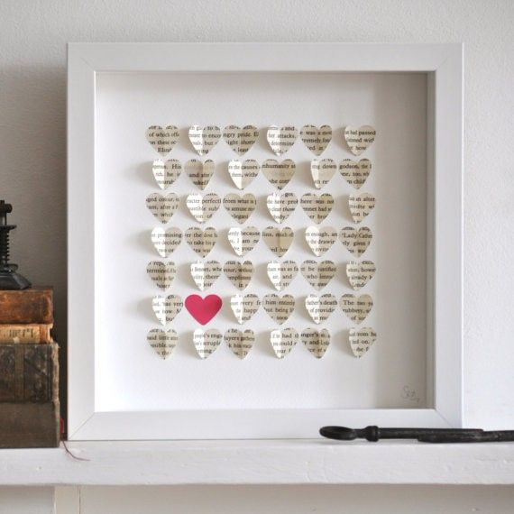 Heart collage in a frame.