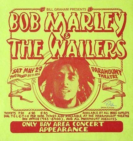 Image result for old reggae concert posters