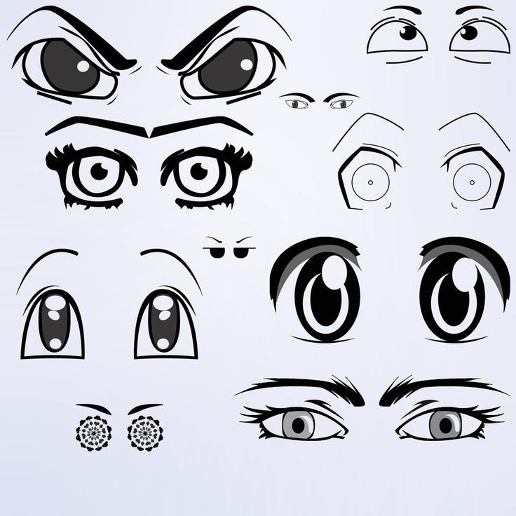 Anime Eyes Brushes 1_Human_allfreebrush Anime