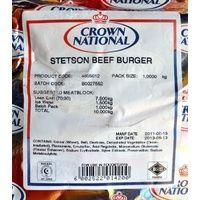 Crown National Stetson #Beef #Burger 1kg #Satooz #SouthAfrica