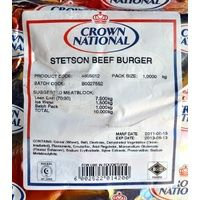 Crown National Stetson #Beef #Burger 1kg #Satooz #SouthAfrica