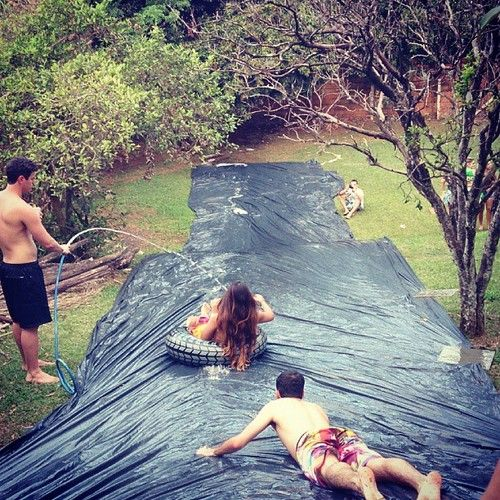 I wanna do this in the summer with my friends and have fun and a good way to cool down