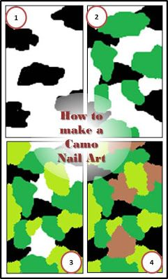 How to make a camo nail art