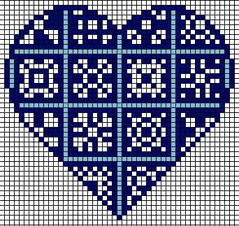 Cross stiches - hearts