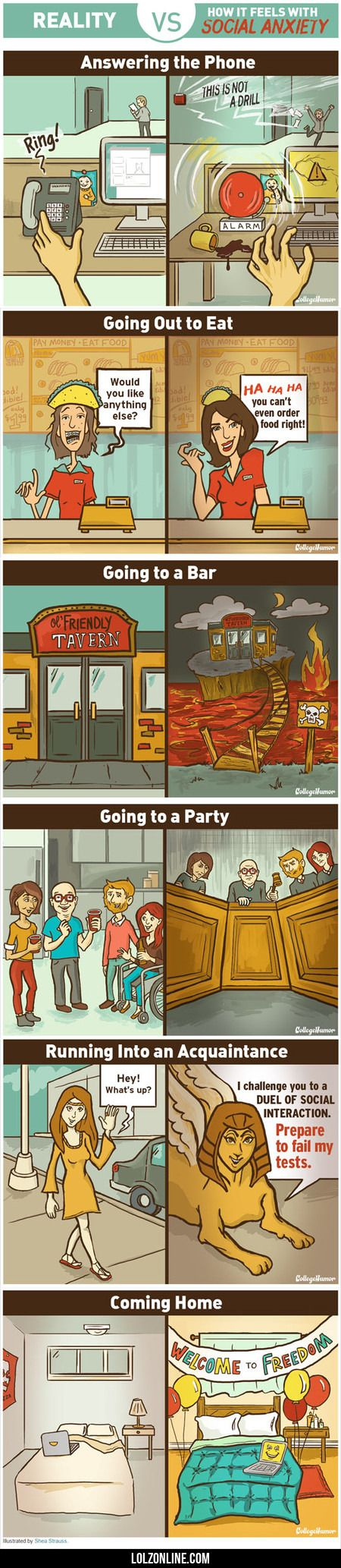 How It Feels With Social Anxiety #lol #haha #funny