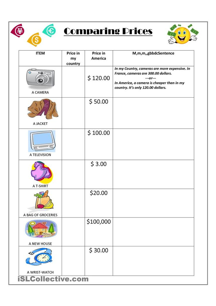 Comparing Prices Materiales Didacticos Pinterest