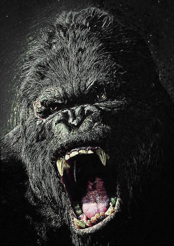 King Kong Ape Movie Giant Wall Art Poster Print
