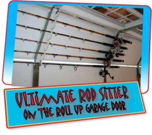 Rod Sitter 10 Fishing Rod Storage Rack Mounting Overhead Vertical Or  Horizontal