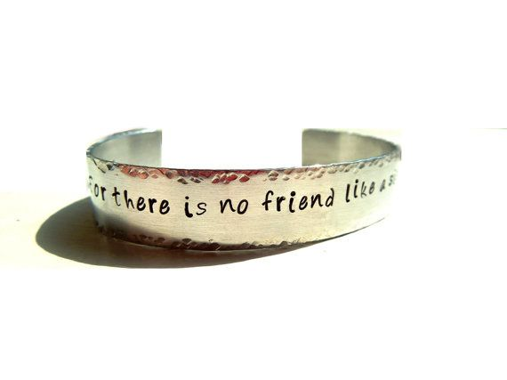 Sister Friend Bracelet - Handstamped - Gift for Sister - Brother to Sister Jewelry - Wedding - Birthday - Hidden Message - Personalized - on Etsy, $24.00