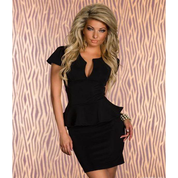 Charlee Cooper Short Sleeve Peplum Bandage Bodycon Dress