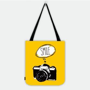 Camera Wants Smile Shopper Tote Bag