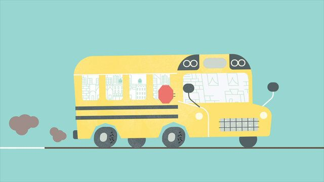 Studio: Part  Parcel, New York Fellow Animator: Claudio Salas My Role: Animator Software: After Effects, Photoshop Date: July 2012  I helped my friend Claudio Salas to animate a couple of scenes on this project. I animated the flipping book, school lockers, school bus, school children rooms, adults on a ruler, school time blueprint, postcard and city scenes.