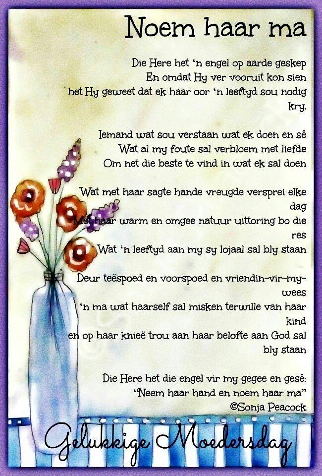 Noem haar Ma... __ⓠ Sonja Peacock #Afrikaans #MamaMia