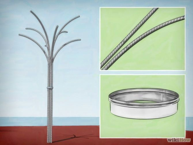 Make a bottle tree out of rebar.