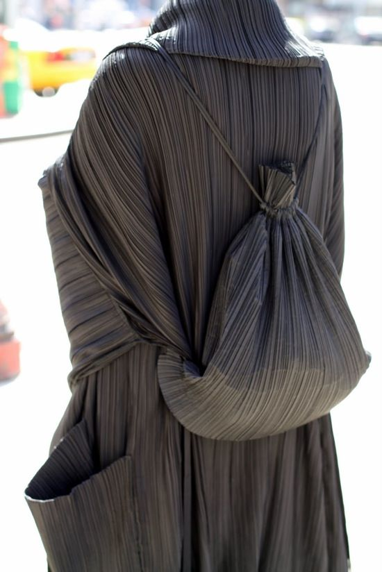 back pack asssexories issey miyake pleats