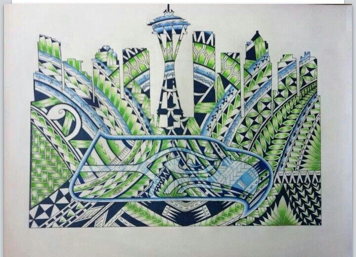 82 best images about seattle seahawks on pinterest beast for Native american tattoo artist seattle