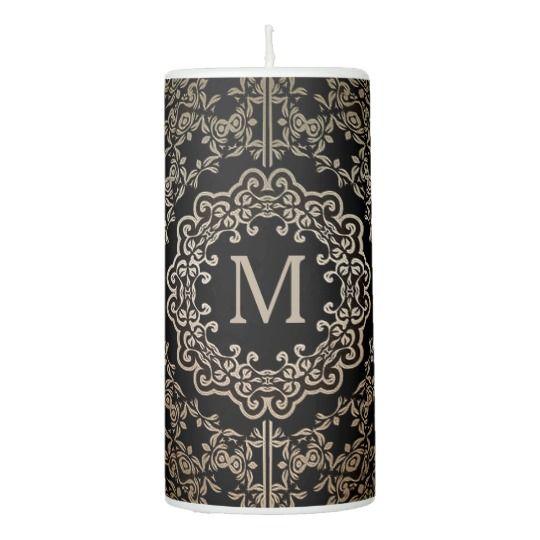 Monogram Gold Filigree Motif Candle