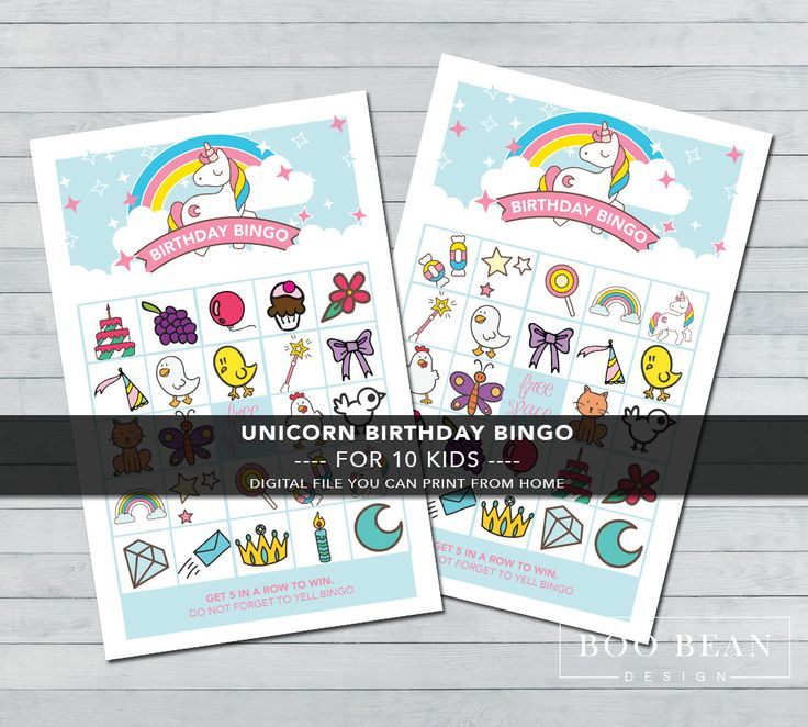 Unicorn Bingo | Printable Game | Unicorn Games | Unicorn Party | Pony Party | Unicorn Party Game | Pony Bingo | Girls Birthday Games by BooBeanDesign on Etsy