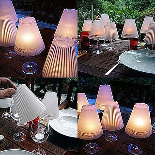 Love this ideaIdeas, Lampshades, Candles, Teas Lights, Tables Lamps, Wine Glasses, Glasses Lamps, Diy, Wineglass