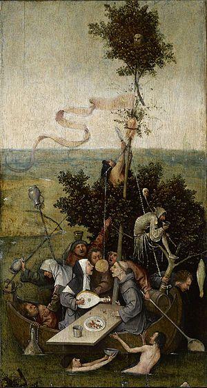 La nave de los locos es un cuadro del pintor flamenco El Bosco, ejecutado en óleo sobre tabla y que mide 58 cm de altura por 33 cm de anchura. Actualmente se encuentra en el Museo del Louvre de París (Francia), donde llegó en 19181 y que lo exhibe con el título de La Nef des fous.  Como el resto de obras de su autor, carece de una datación unánime entre los especialistas. Se ha señalado el período 1503-1504, mientras que Wundram indica, simplemente, «después de 1490».2 Parece claro que es…
