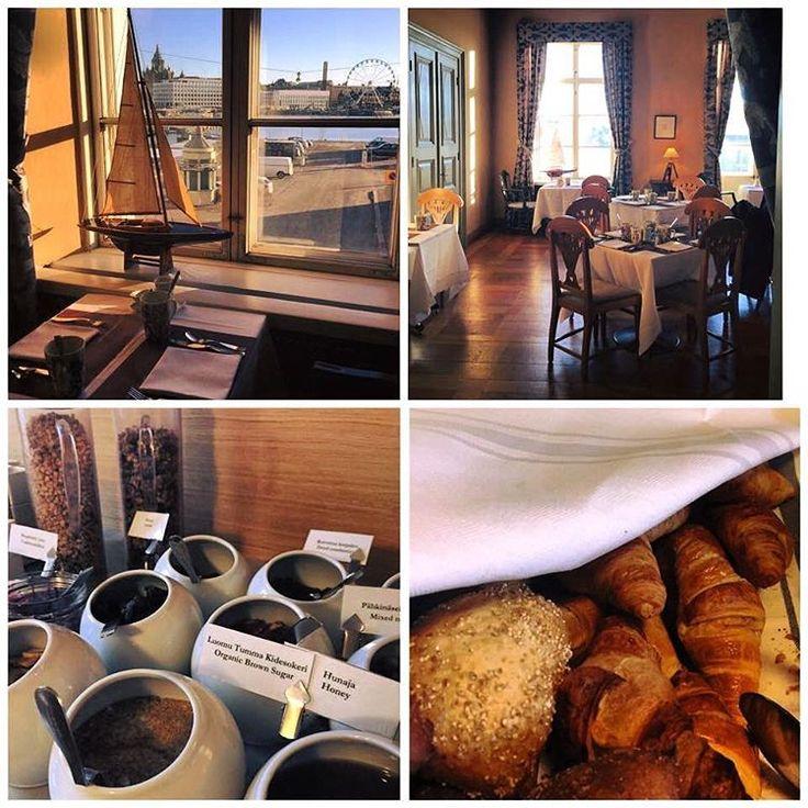 Slow mornings ❤️ Haven breakfast is served in our new premises. Aamiainen on katettu kevätauringon paisteeseen ❤️ #yourhomeyourplace #smallluxuryhotels #visitfinland #visithelsinki #instahotel