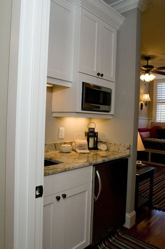 Kitchenette for upstairs-want this for the master suite up stairs