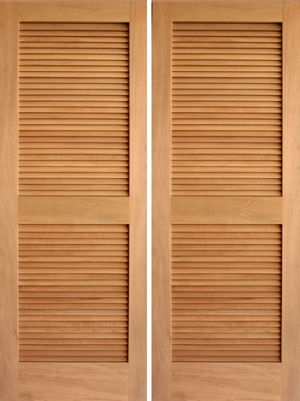 Rustic Louver Double Door Bathroom Doors Thinking This