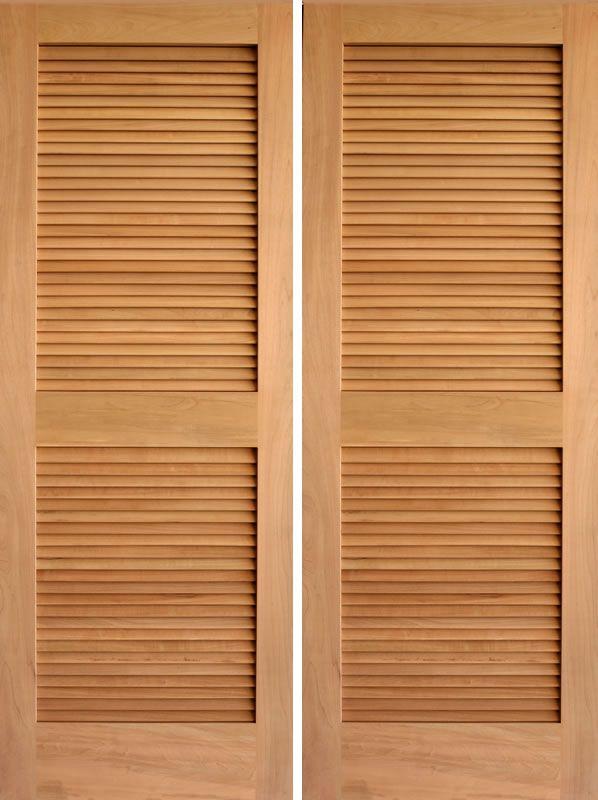 Prehung Louvered Interior Doors Shop Reliabilt Louvered Solid Pine Right Interior Single