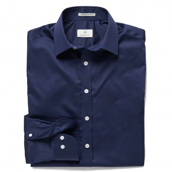 GANT Diamond G Fine Satin Fitted Shirt 380172