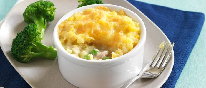 Corn and Potato Topped Chicken Pie recipe from Food in a Minute