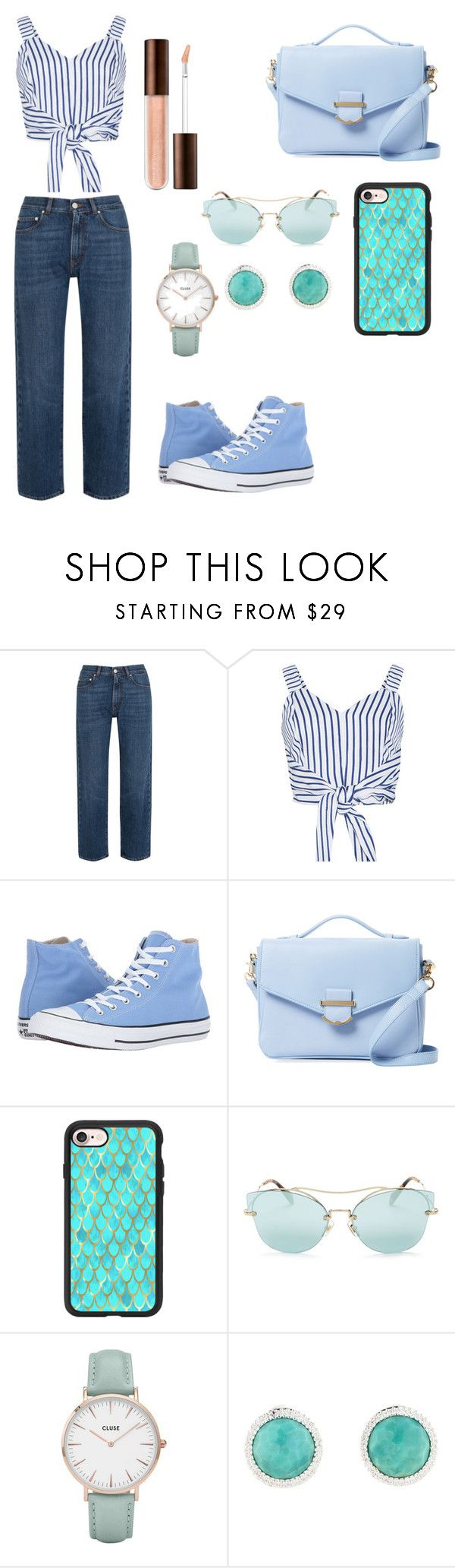 """Light blues"" by iammariii ❤ liked on Polyvore featuring AlexaChung, WithChic, Converse, Cynthia Rowley, Casetify, Miu Miu and CLUSE"