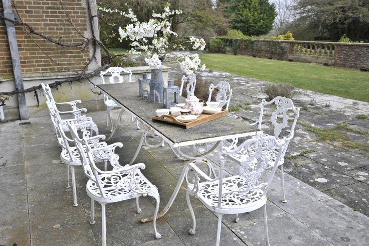17 best images about patio furniture on pinterest furniture shabby chic and wrought iron - Shabby chic outdoor furniture ...