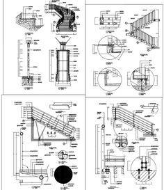 Mais de 500 detalhes da escada – componentes da escada, projeto da escada da arquitetura   – STAIR DETAIL