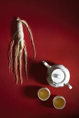 ginseng tea. Instead of coffee for an afternoon boost