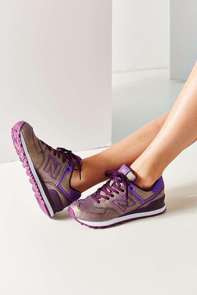 new balance 574 wearing high heels