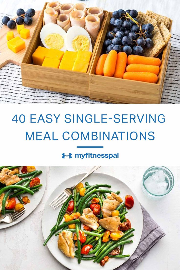 The majority of these 40 recipes are made for one so you don't have to eat the same meal for days if you don't want to.