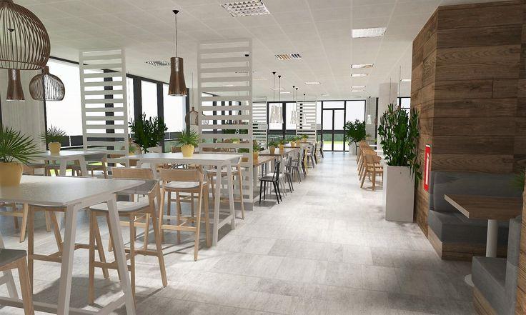 Office food court / projekt kantyny biuro architekt wnętrz siedlce warszawa Dmowska Design architekt Patrycja Dmowska