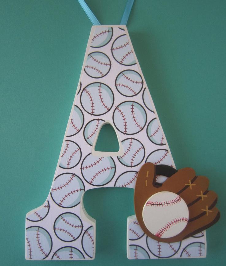 Baseball Nursery or Bedroom wall letters. Football. Soccer. Basketball. Sports. Custom.. $11.75, via Etsy.