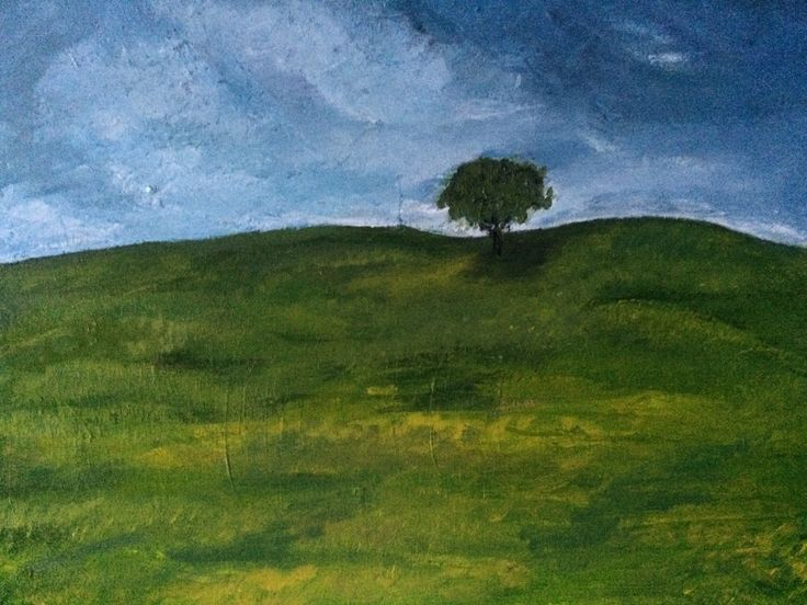 A personal favorite from my Etsy shop https://www.etsy.com/listing/253970216/albero-solitario-16x20-acrylic-on-canvas