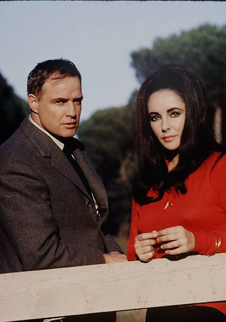 REFLECTIONS IN A GOLDEN EYE (1967) - Marlon Brando & Elizabeth Taylor - Based on novel by Carson McCullers - Directed by John Huston - Warner Bros. - Publicity Still.